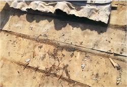 防水紙や野地板の補修、交換 Before