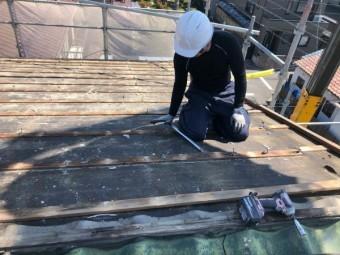 屋根葺き替え工事 かわらU