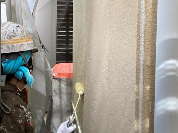 名古屋市名東区 外壁塗装 下塗り
