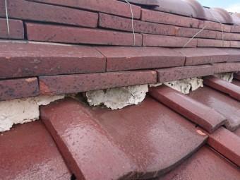 湿った葺き土