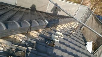 棟下漆喰 補修工事