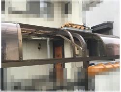 カーポート平板交換 ポリカーボネート