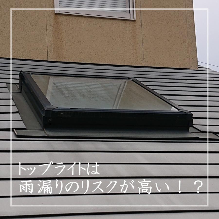 瀬戸市でトップライトからの雨漏り点検 天窓のメンテナンス