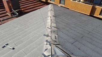棟板金の被害 台風被害
