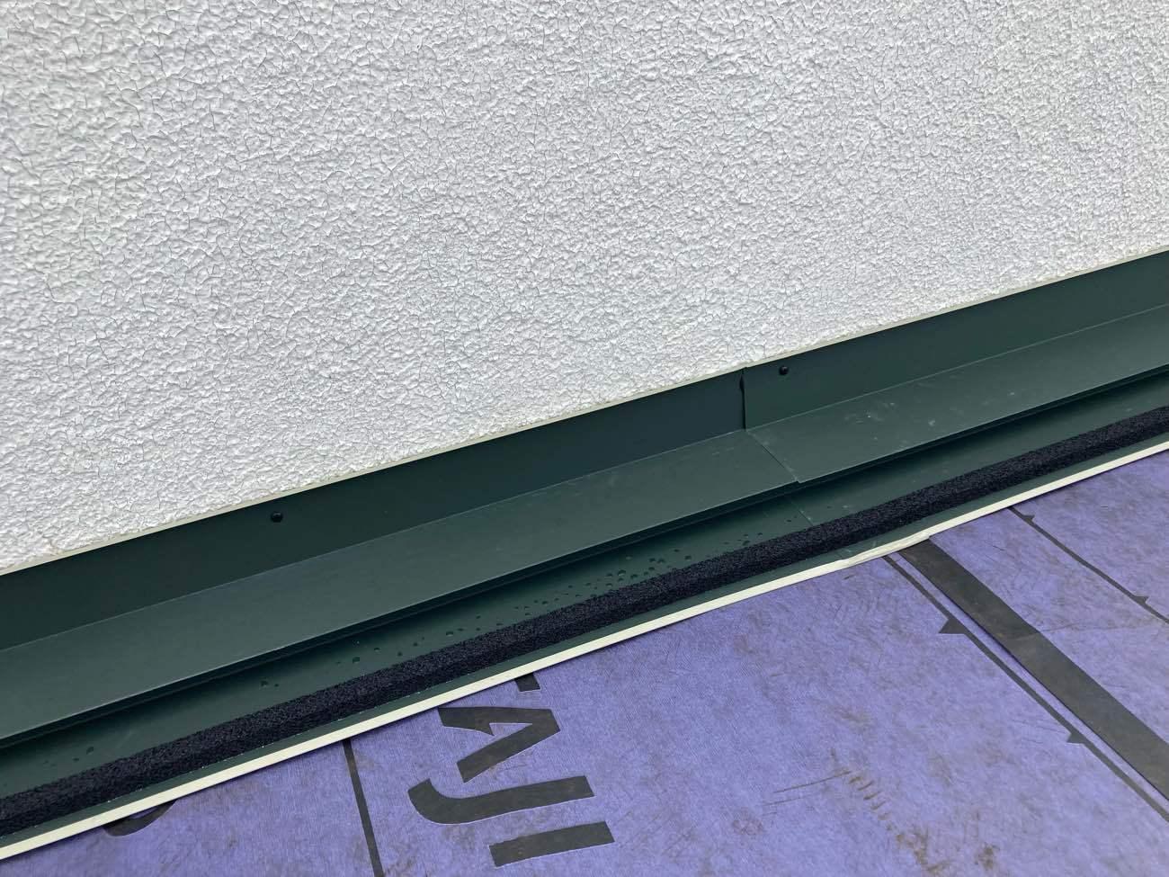 屋根カバー工法 壁際 雨押え板金