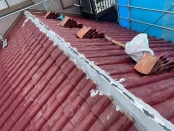 S瓦 棟の補修工事