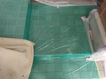 塗装工事 付帯部塗装 養生