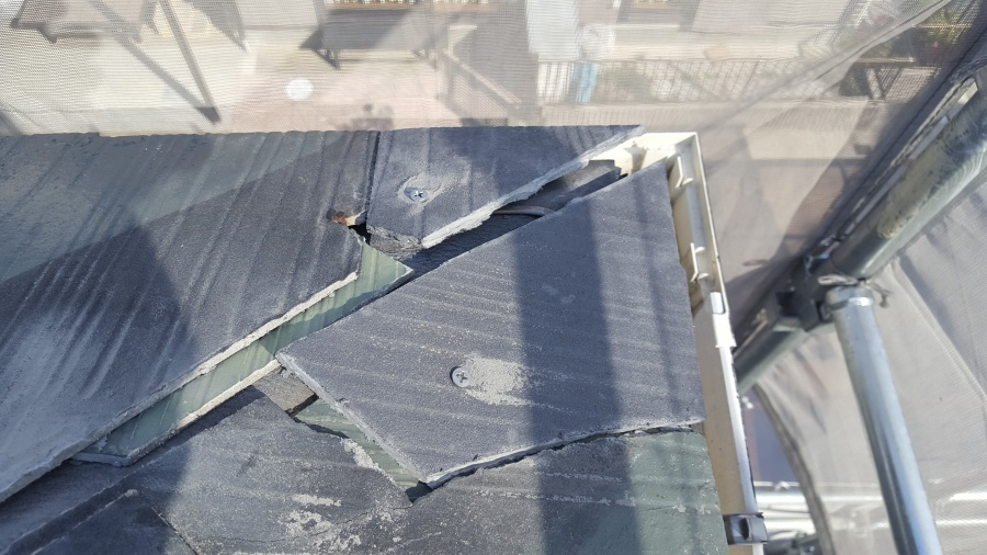 名古屋市緑区で棟板金の交換工事を行ってきました。