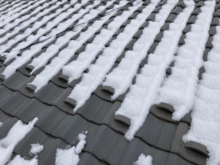 積雪 屋根の上の雪