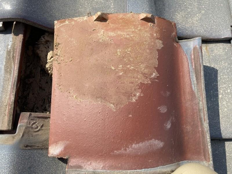 屋根点検 無料の点検 瓦凍て確認