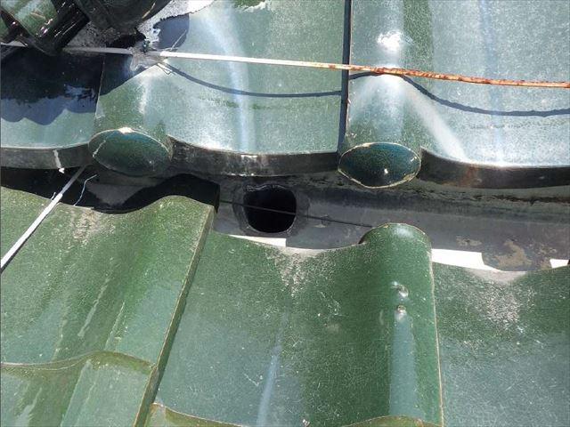 陶器瓦 箱樋 雨漏れ
