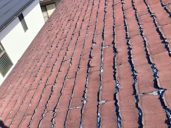 名古屋市守山区で層間剝離により塗装が出来ないニチハのパミール