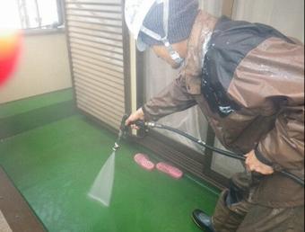 防水工事 洗浄