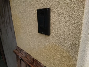 玄関の押し釦 交換工事