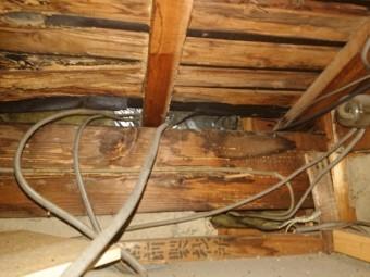 雨漏り点検 箱樋の雨漏り