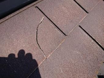 化粧スレート屋根 割れ