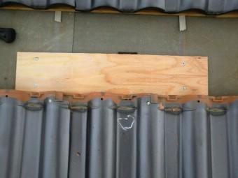 太陽光パネル設置 補強板設置