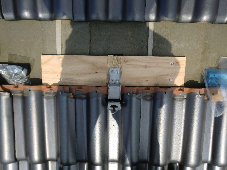 太陽光パネル設置 支持金具取付