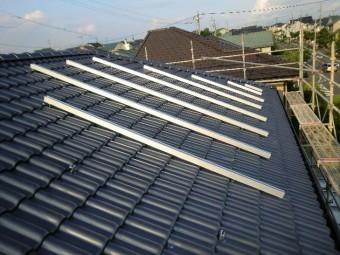 太陽光パネル設置工事 架台設置