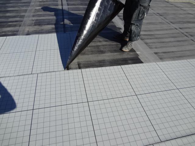 豊明市でアパートの屋上防水工事を行いました②