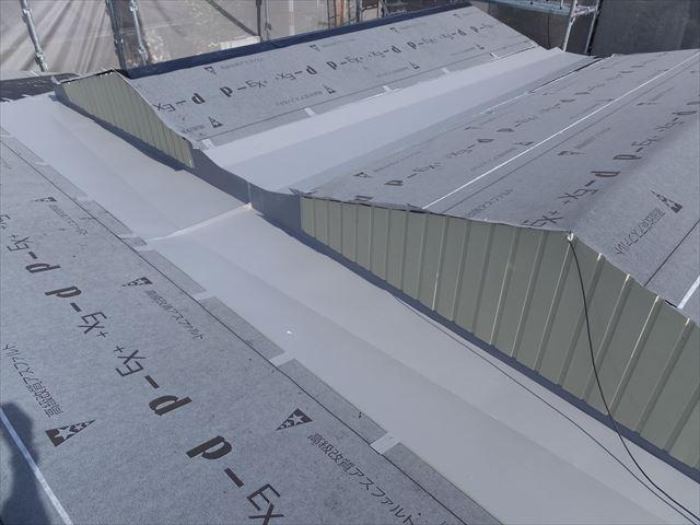 日進市 葺き替え工事 スレート屋根 箱樋