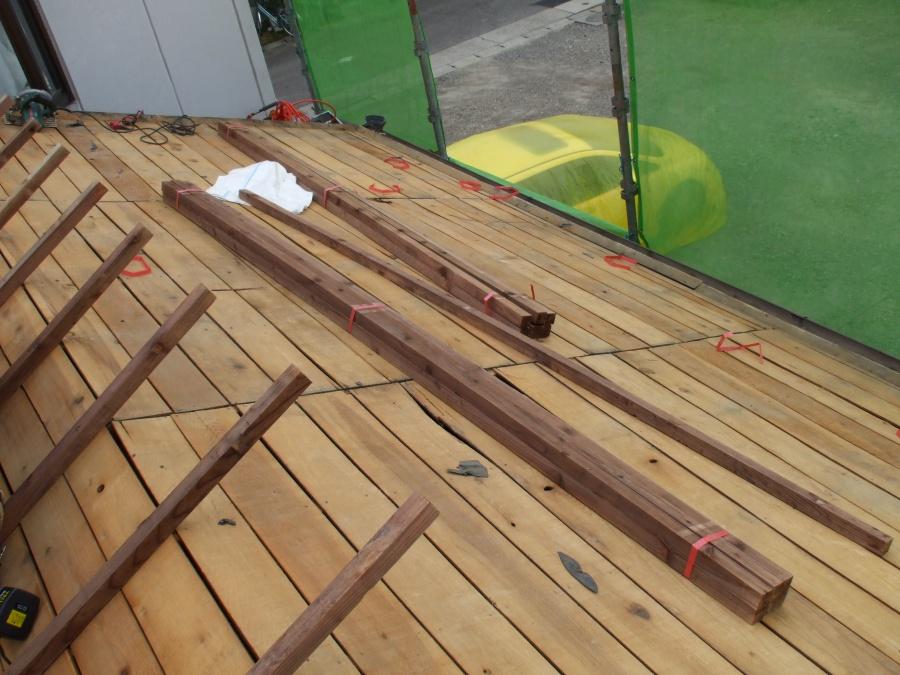 かさ上げ垂木施工