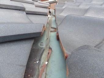 谷樋 銅板劣化