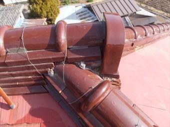 スレート屋根 棟瓦
