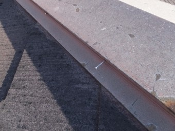 棟板金の劣化 釘浮き