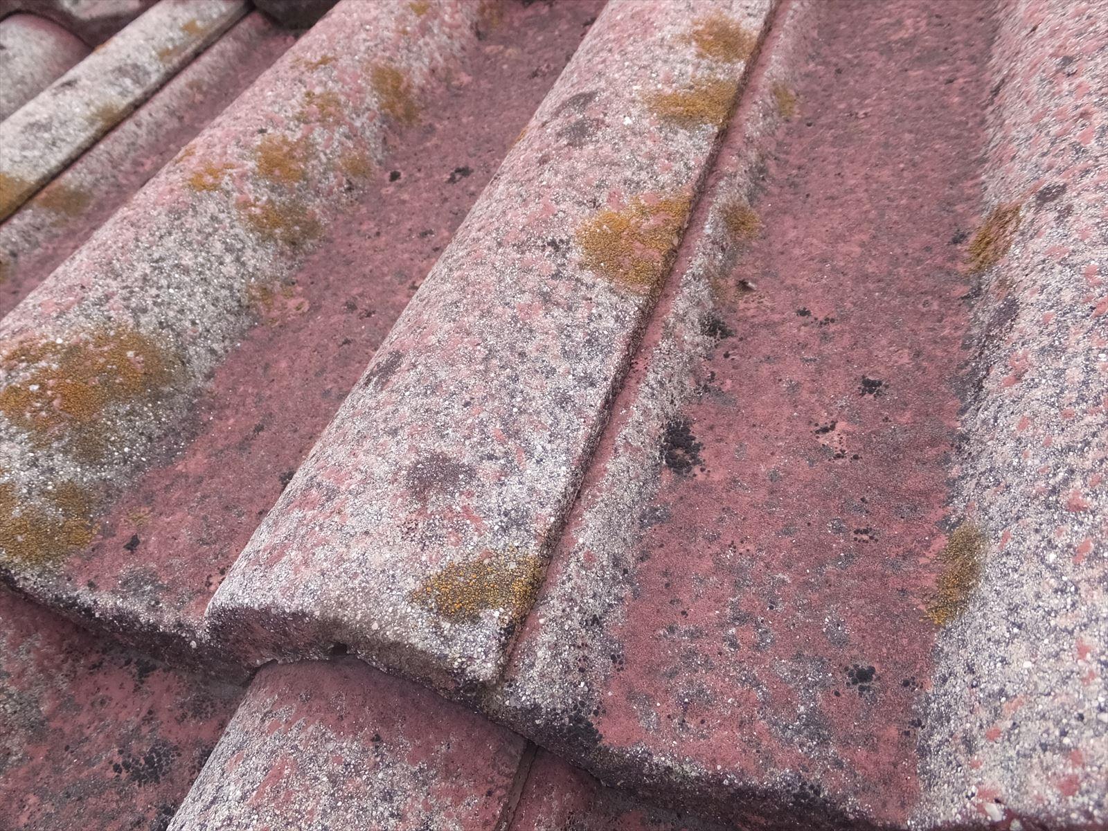 屋根 セメント瓦 劣化状態