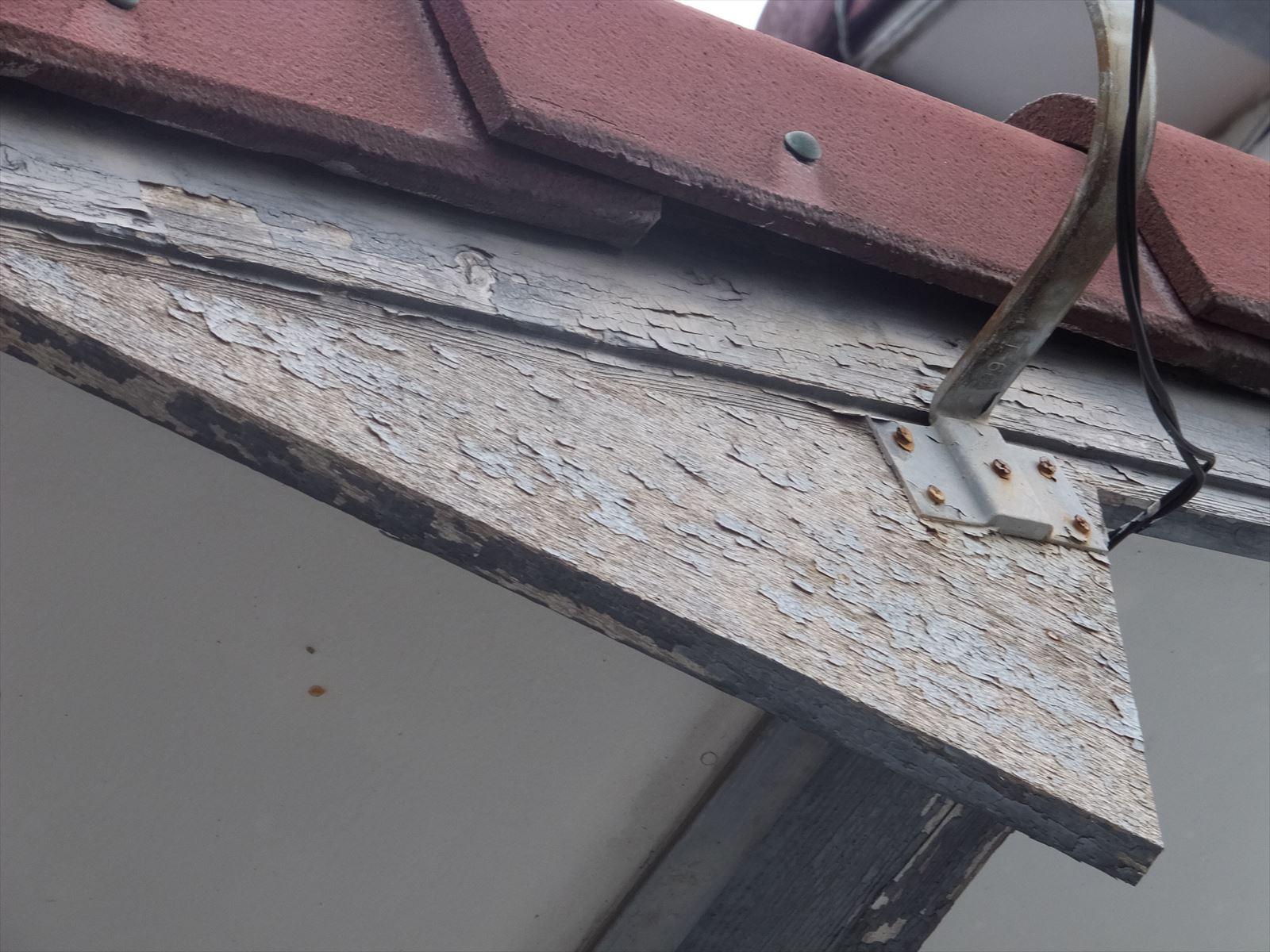 破風板の劣化状態