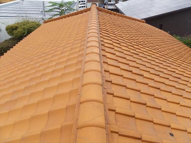屋根 陶器瓦 点検