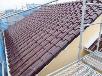 屋根工事 仮設足場組立