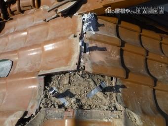 屋根瓦 台風被害 棟交換工事 人工木