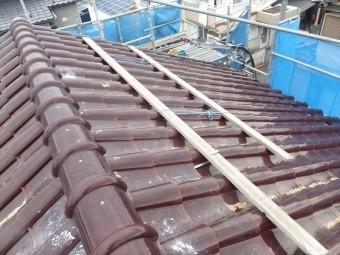 S型瓦 屋根漆喰工事