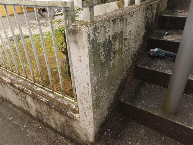 基礎 外塀 塗装前 状況