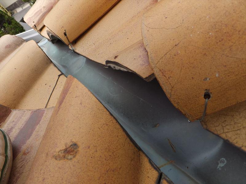 谷板金の銅板 劣化