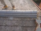 スレート屋根 棟取り直し