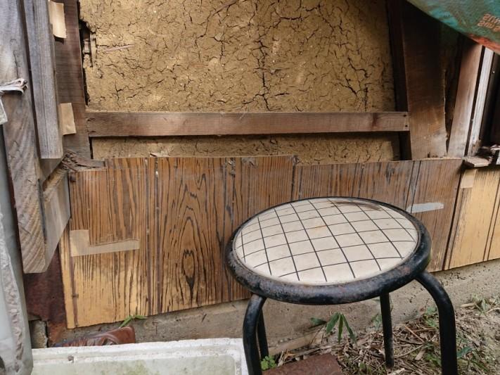 台風被害 戸箱破損