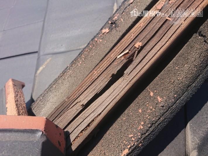 平板瓦 棟取り直し工事