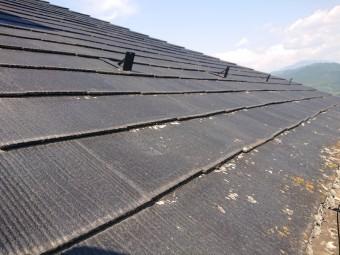 スレート屋根 重ね葺き工事