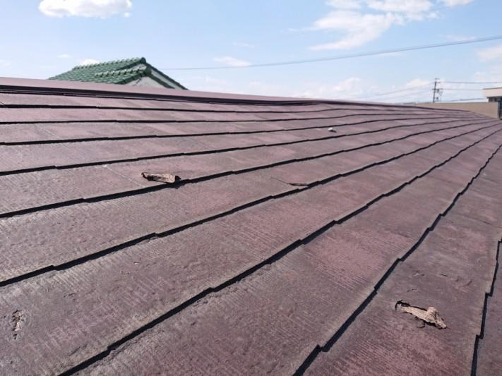 スレート屋根の異常