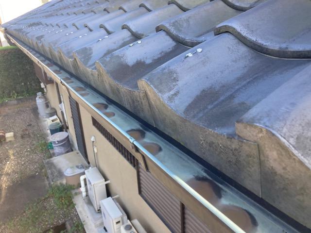 北名古屋市で銅製の雨樋の穴あき 雨樋交換見積もり