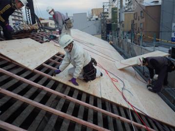 屋根下地造作工事