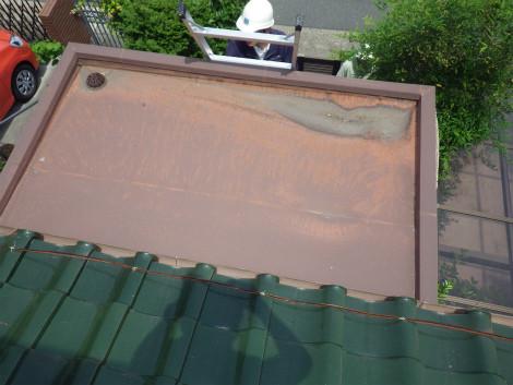 軒天屋根施工前