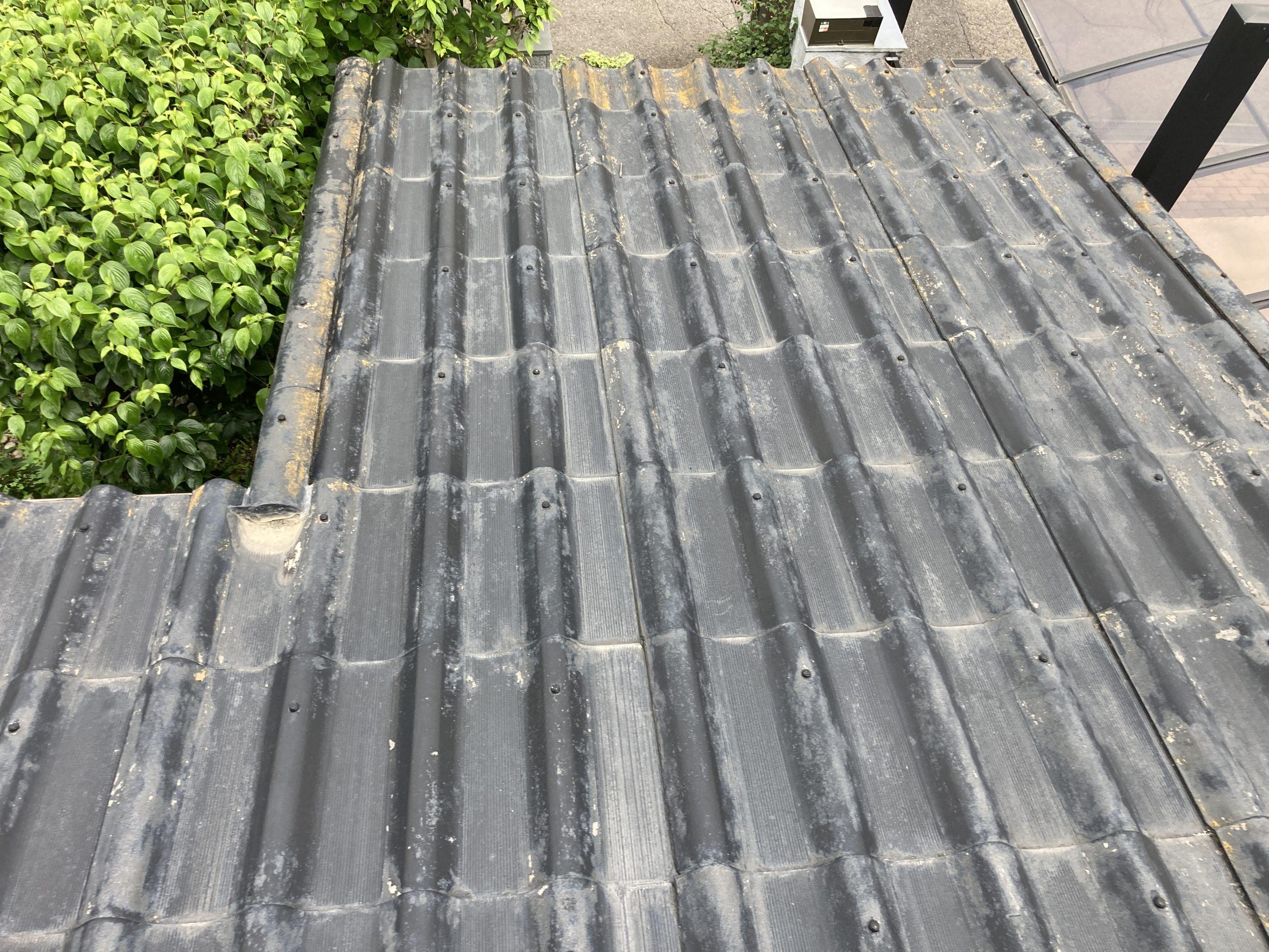 屋根塗装工事 施工前の写真