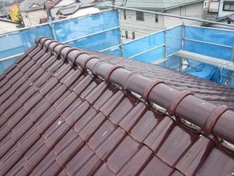 S形瓦 屋根漆喰補修