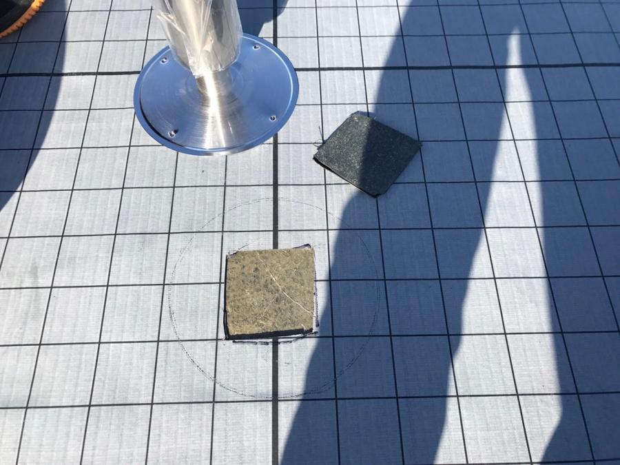 豊明市でアパートの屋上防水工事を行いました③