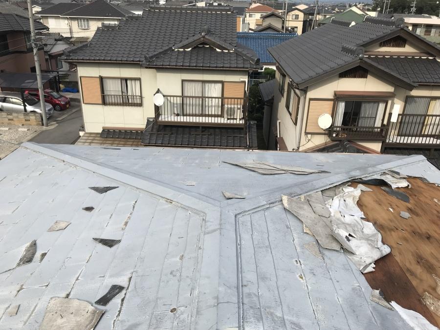 スレート 台風被害