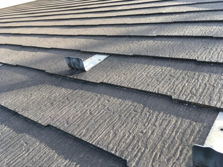縁切り不足 スレート屋根の雨漏り
